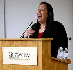"Erin Gruwell retold the story of ""Freedom Writers"" at the 2009 Building Bridges Conference."
